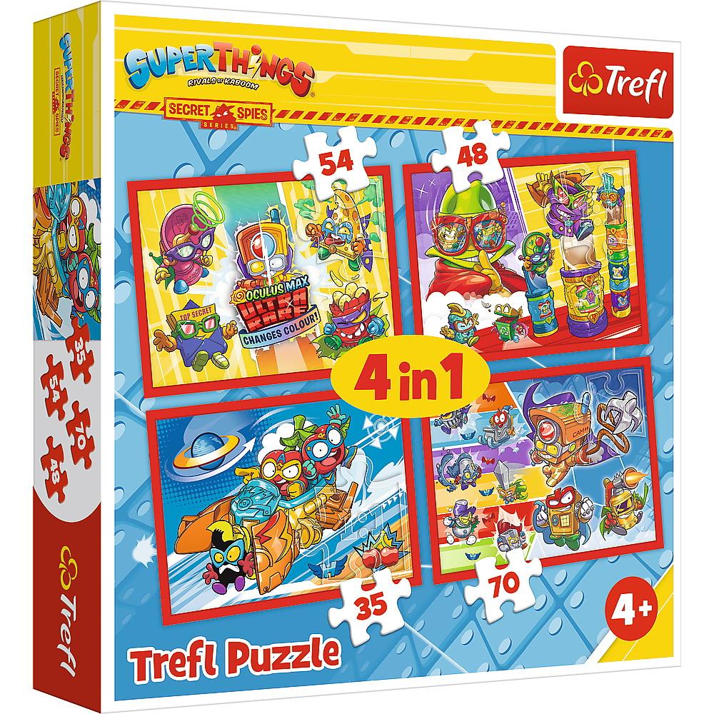 Puzzle Trefl 4in1  Spionii Secreti