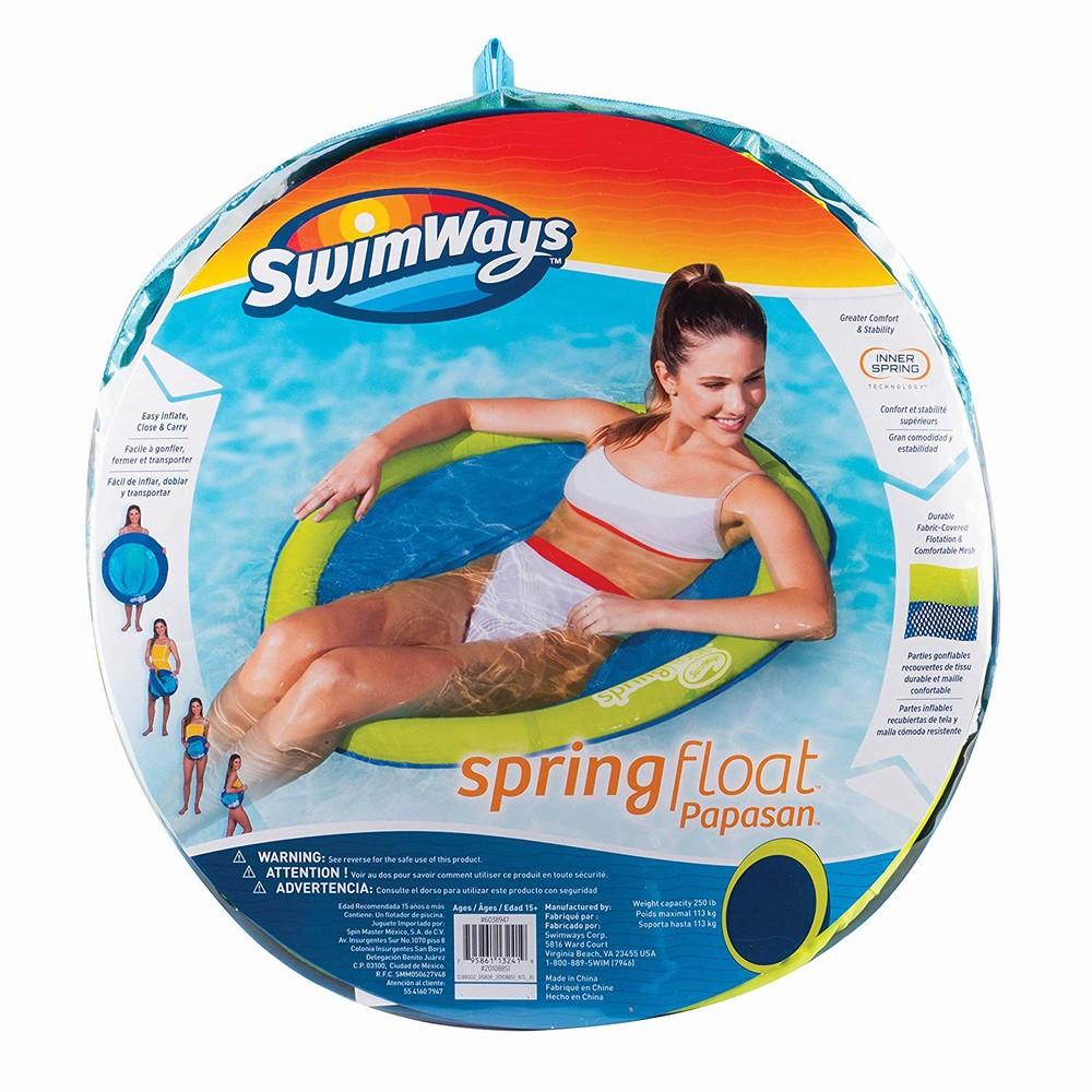 Swimways  Scaun Plutitor Spring Float Papasan Verde Cu Galben