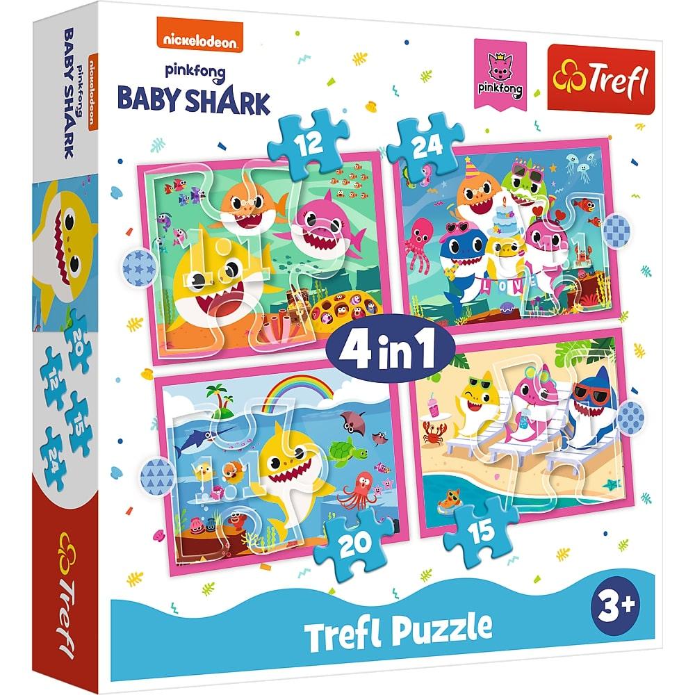 Puzzle Trefl 4in1 Familia Shark