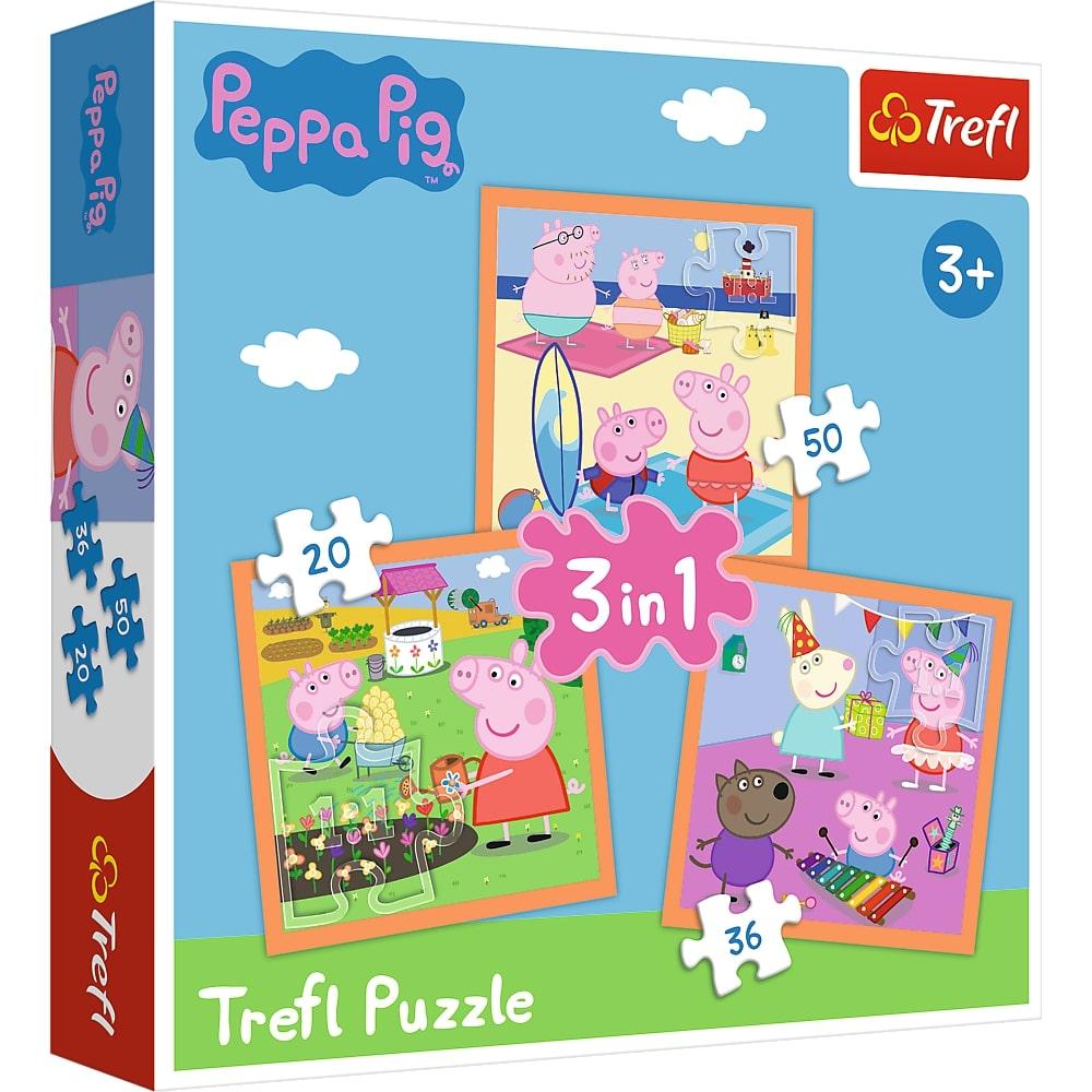 Puzzle Trefl 3in1 Inventiva Peppa Pig