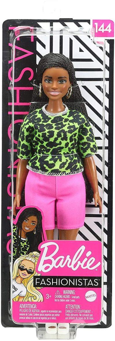 Papusa Barbie Fashionista Cu Parul Brunet Impletit In Codite