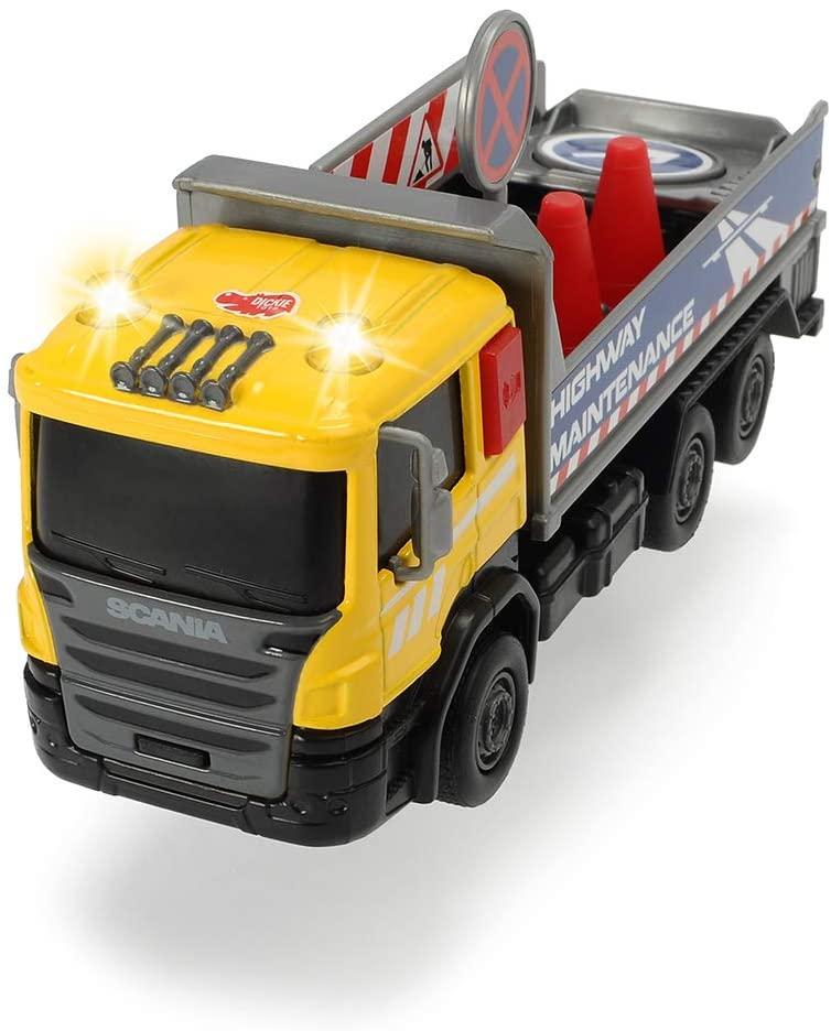 Masinuta Utilitara Scania City Team Galbena