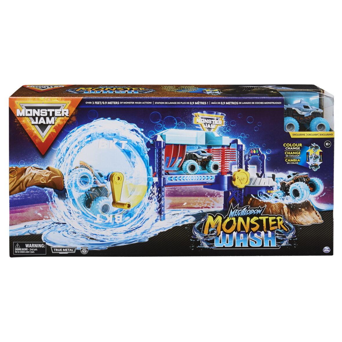 Monster Jam Set Spalatorie Auto