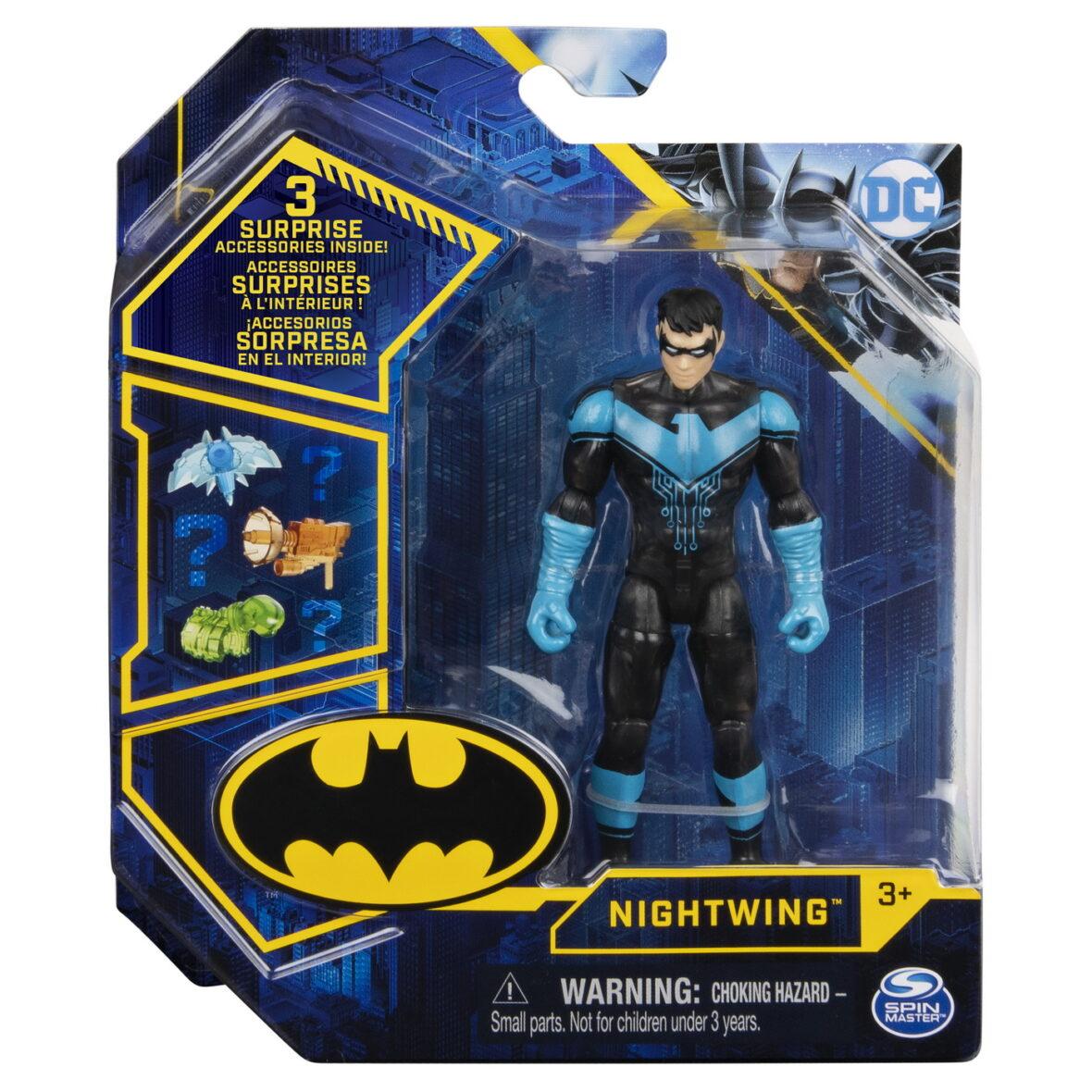 Figurina Nightwing Cu Costum Tech Si Articulata 10cm Cu 3 Accesorii Surpriza