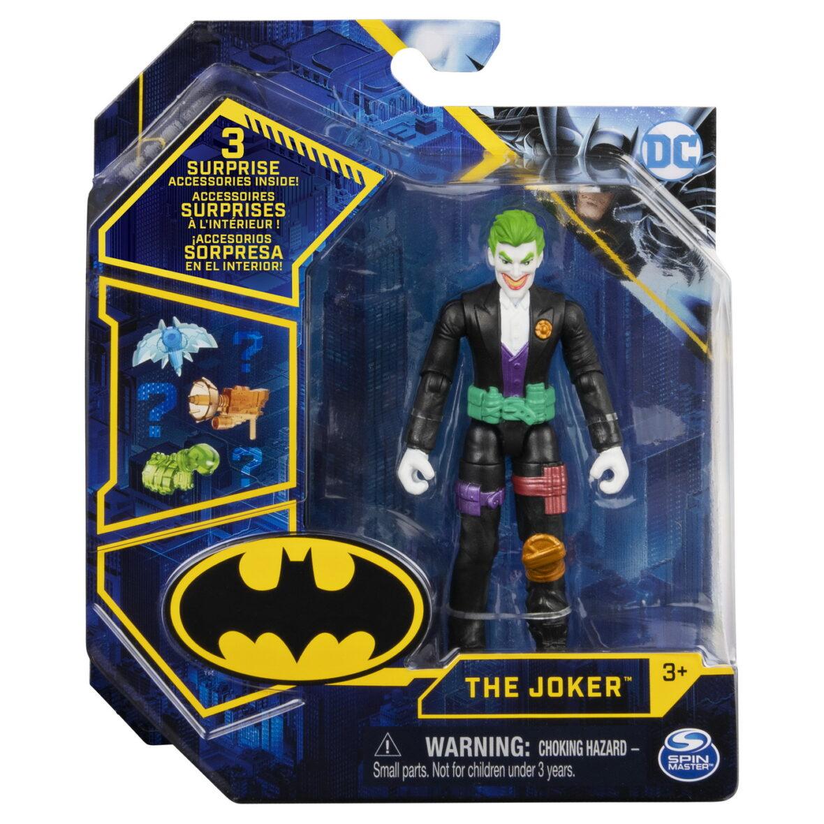 Figurina Joker Articulata 10cm Cu 3 Accesorii Surpriza