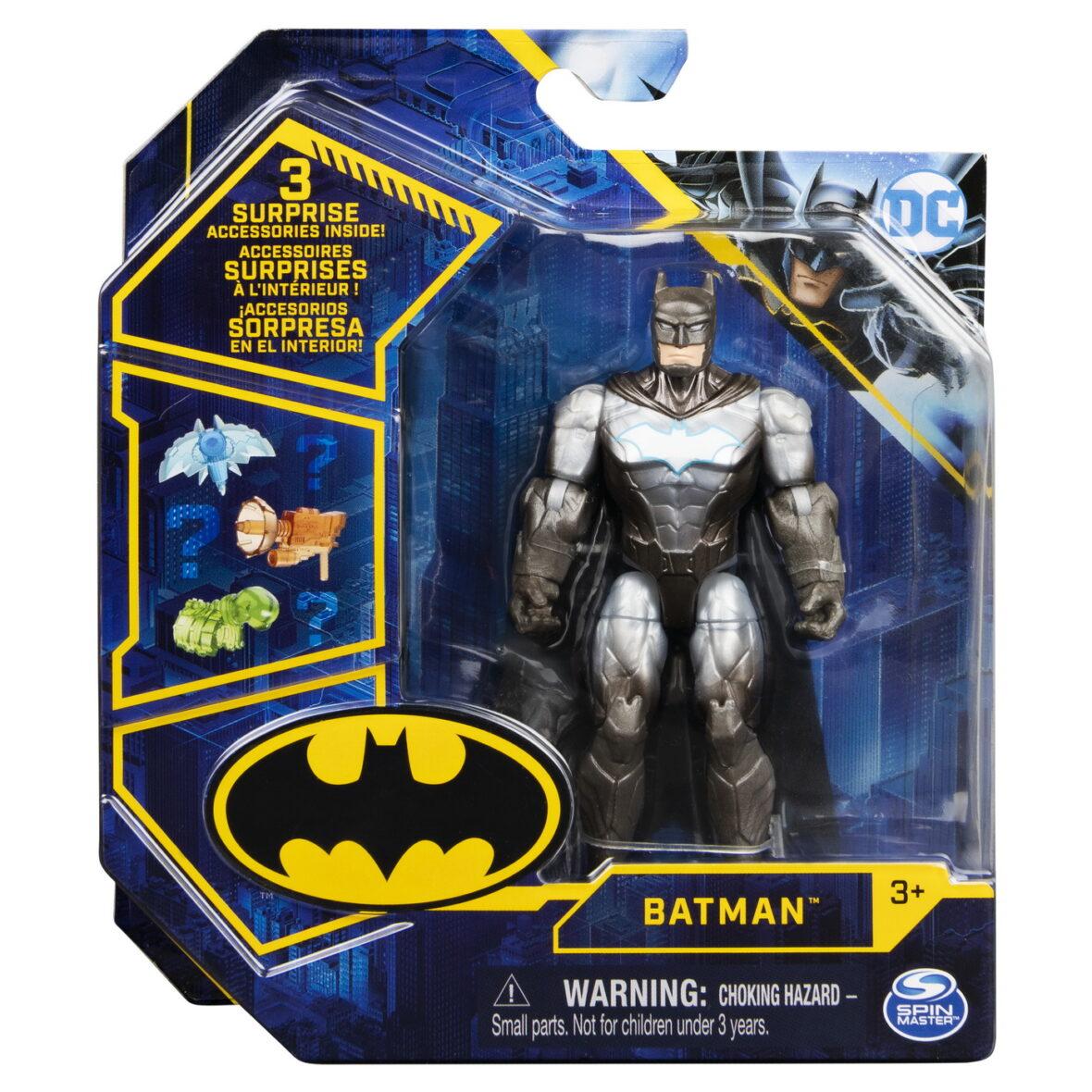 Figurina Batman Cu Costum Cu Armura Si Articulata 10cm Cu 3 Accesorii Surpriza