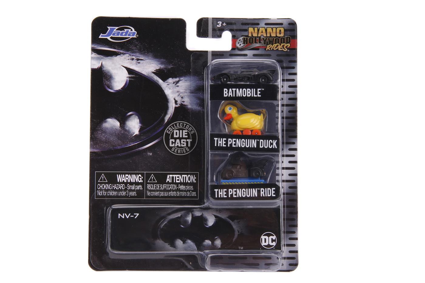 Batman Set 3 Nano Masinute Metalice 4cm