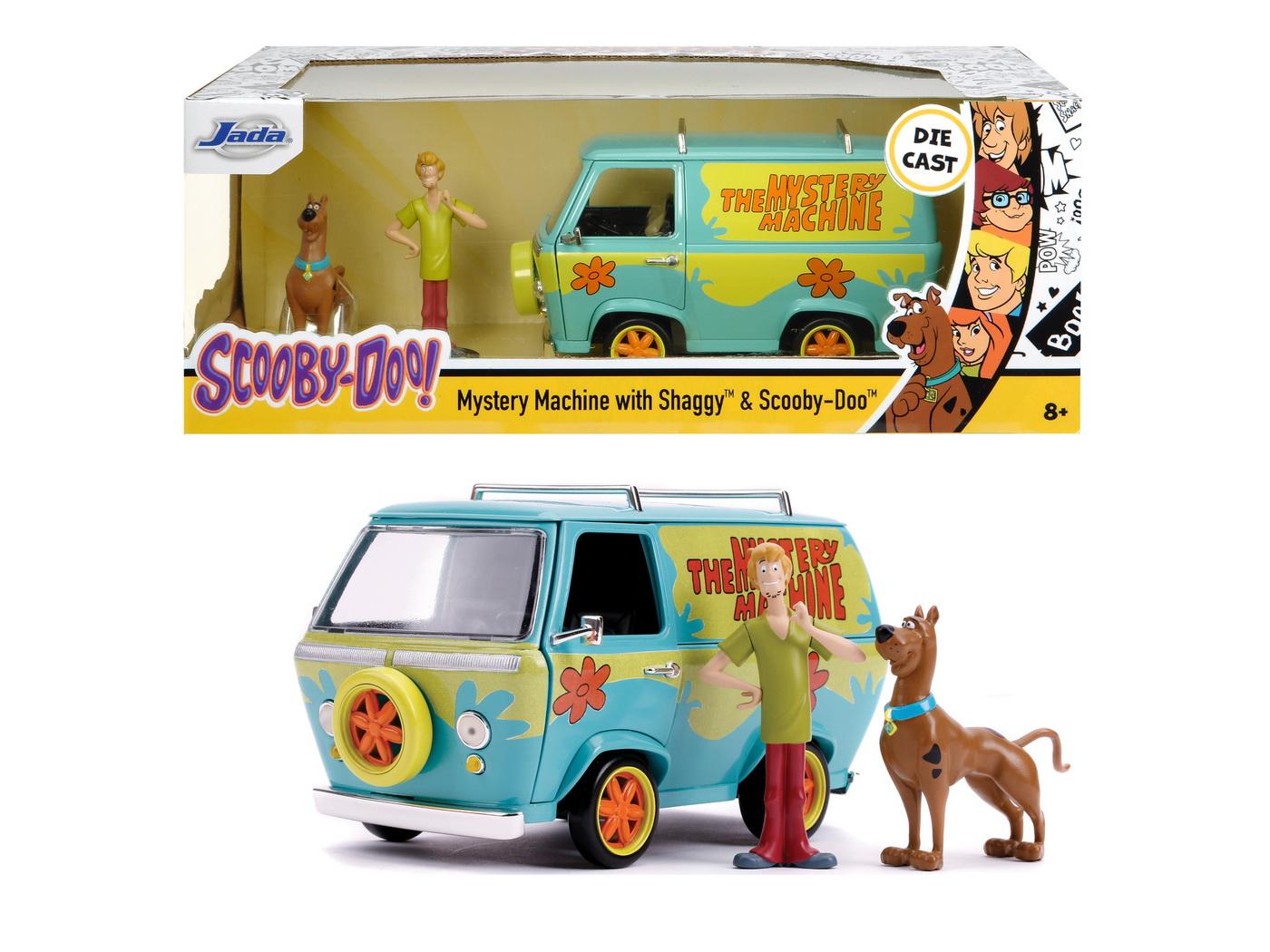Scooby Doo Mystery Van Set Format Din Dubita Metalica Scara 1:24 Si 2 Figurine Scooby Doo Si Shaggy